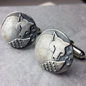 Fox Cufflinks In Silver