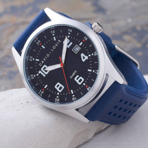 Atlantic Blue Strap Customised Watch with FREE watch Personalisation & Engraving