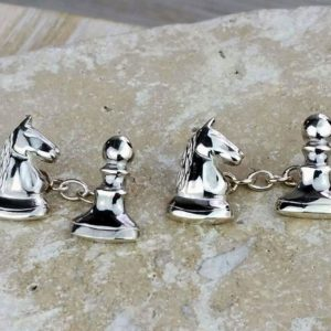 Chess Silver Cufflinks