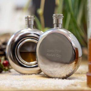 Personalised Hip Flask with Window & FREE Engraving
