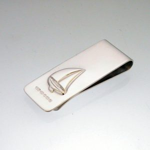 Silver Sailing Boat Money Clip