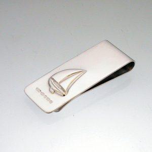 Silver Sailing Boat Money Clip