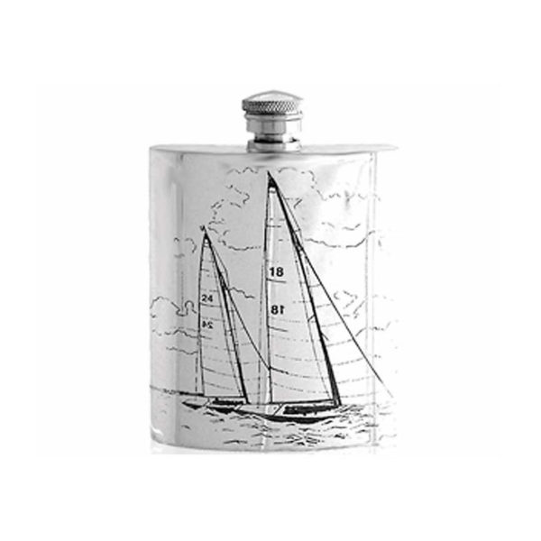Sailing Hip Flask with Free Engraving