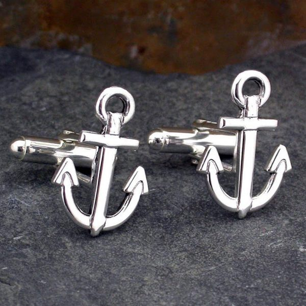 Anchor Cufflinks In Silver on ShopStreet.ie Silver Cufflinks For Sailors