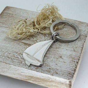 Silver Sailing Keyring