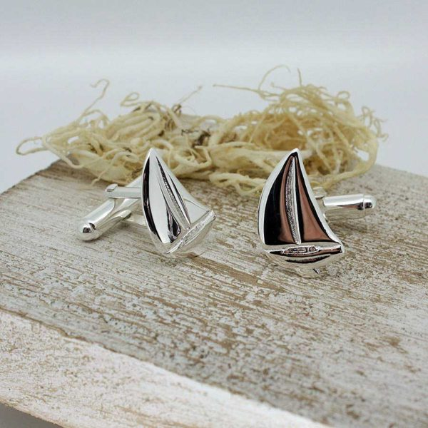 Silver Sailing Boat Cufflinks on ShopStreet.ie