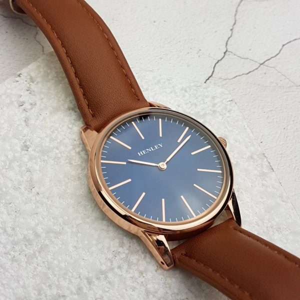 Discreetly Personalised Rose Gold Mens Watch with FREE Engraving