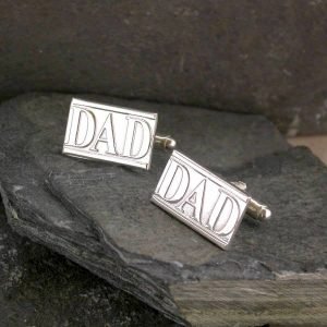 Dad Cufflinks Handmade In Silver on ShopStreet.ie Silver Dad Cufflinks Ireland