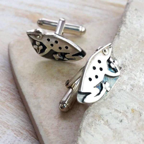 Frog Cufflinks Handmade In Hallmarked Silver. ShopStreet.ie Silver Cufflinks. Frog Nature Cufflinks.