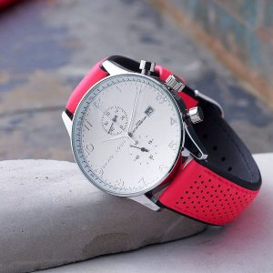 Active Chronograph Watch with Pink Strap - Free Watch Personalisation and Engraving on ShopStreet.ie Personalised Watches