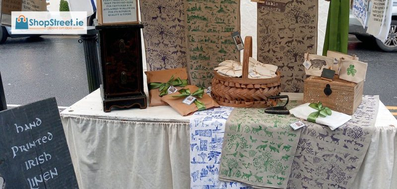 Galway Irish Linen At Galway Market - Specialist Hand Printed Irish Linen From Connemara Ireland on ShopStreet.ie Handmade Irish Gifts
