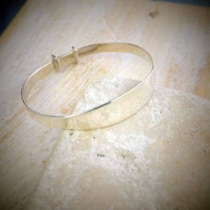 Christening Silver Bangle Personalised Baby Gift For Godchild & Godparent. Handmade Baby Bangle in Solid Sterling Silver