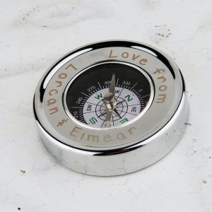Personalised Fathers Day Compass. Desk and Hand Compass with free Personalised Engraving.