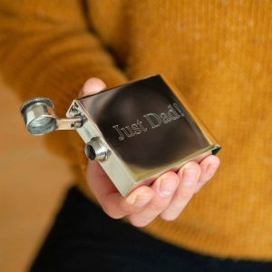 Deco Personalised Hip Flask with FREE engraving. Hip Flask for Father's Day, Dad, Father Of The Bride, Best Man & Weddings. Optional Gift Wrapping.