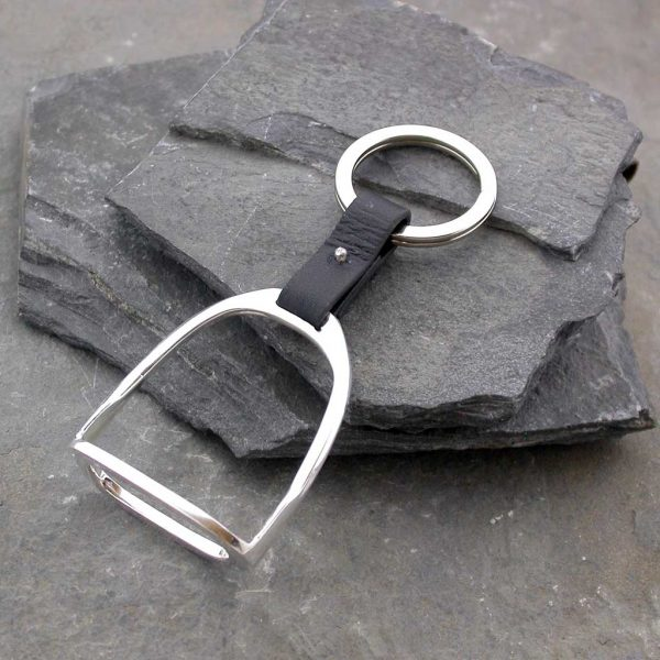 Horse Stirrup Silver Keyring for Horse Racing Enthusiasts, Hallmarked Silver & Quality Handmade Stirrup Keyring. Perfect for Galway Races & Horse Race Meetings