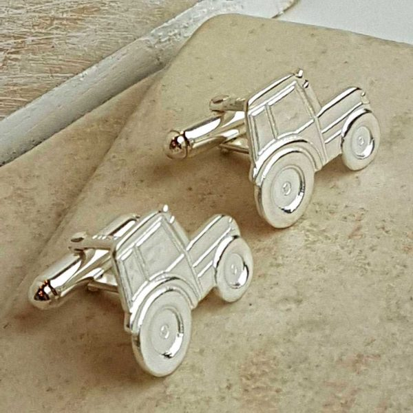 Tractor Cufflinks For Farmers. Hallmarked Silver Tractor Cufflinks, Handmade For Farmers, perfect Gift For Farmer, Farming & Irish National Ploughing Championships.