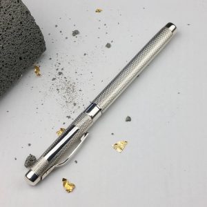 Personalised Silver Fountain Pen for Graduation, Retirement, Gift & Presentation