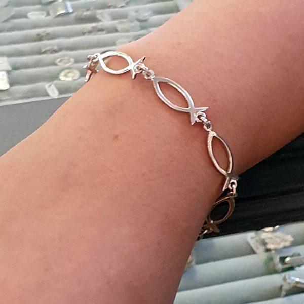 Silver Fish Bracelet | Ichthys Bracelet | Ichthus Silver Bracelet