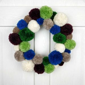 Handmade Christmas Wreath & Christmas Garland. Handmade Home Decor and Christmas Door Decoration. Unique & Exclusive Interior Design!