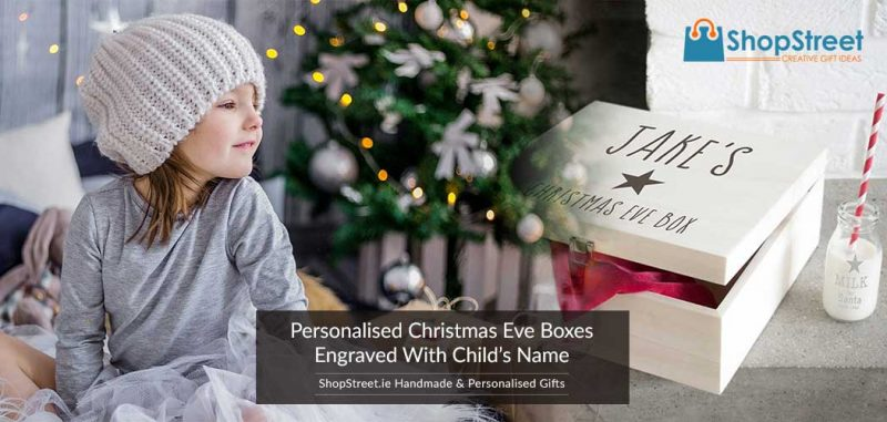Top Quality Christmas Eve Boxes - Personalised With Child's Name - Perfect for the Irish Family, Ireland