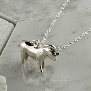 Unicorn Pendant In Sterlin Silver on 24 inch Silver Chain with Illustrated 'The Unicorn of Success' Booklet. Romantic Unicorn Silver Gift with optional Gift Wrapping.