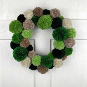 Very Green Handmade Christmas Wreath & Christmas Garland. Handmade Home Decor and Christmas Door Decoration. Unique & Exclusive Interior Design!