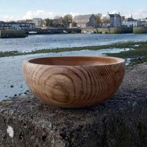 Wooden Bowl In Spalted Irish Elm Handmade To Order in Galway, Ireland. Wood Fruit Bowl or Salad Bowl ideal Wedding Gift handmade in Irish Elm uniquely Spalted over 2 years.