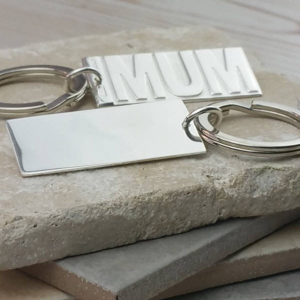 Silver Mum Keyring & Mother Keychain in Hallmarked Sterling Silver. Handmade Silver Keyring for Birthday, Mothers Day. Irish Mammy Gift with Gift Wrap, Ireland.