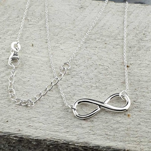 Sterling Silver Infinity Pendant Necklace Handmade For Valentines Day, Bride, Bridesmaid, Mother & Mother Of The Bride. Infinity Necklace with Gift Wrapping.
