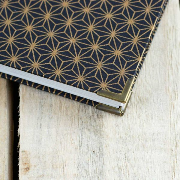 Washi Asanoha Eco Stationary. Notebook, Diary, Sketchbook, Art, Archive Journal - Cartridge, Bristol Illustration & Watercolour Paper A5 Archival Art Supplies