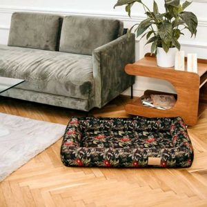 Large Dog Bed - Luxury Personalised Dog Bed in Velvet customised with the name of your pet. Stylish Big Dog Bed available in 3 Dog Bed sizes.