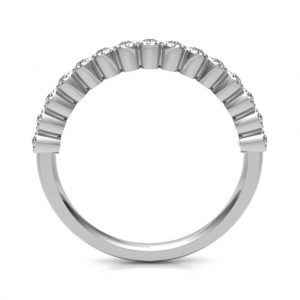18ct White Gold Diamond Set Eternity Ring Handmade In Vintage Style. Eternity Ring with high quality GH S/I classification diamonds, total approx 0.13 carats.