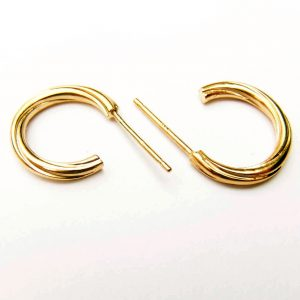 Twist Circle Create Your Own Silver Earrings Handmade in Satin or Polished, Sterling Silver, Yellow or Rose Gold Guilt with Circle or Hook Design plus Gift Wrap