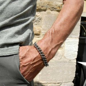 Men's Titanium Bracelet, Lightweight & Super Strong Jewellery gift for him made to order. Stunning curb chain Titanium bracelet.