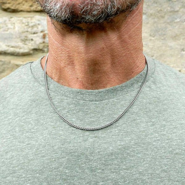 Men's Titanium Necklace - A Fine, Lightweight & Strong Jewellery Necklace gift for him. Stunning made to order Men's Titanium Necklace.