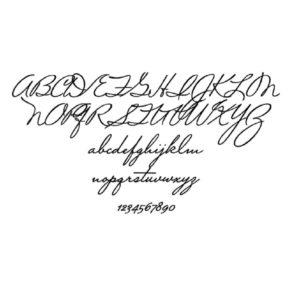 Script Font for Personalised Engraving