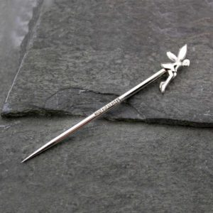 Silver Toothpick in Handmade Hallmarked Sterling Silver with Fairy Design in velour pouch with optional gift wrapping.