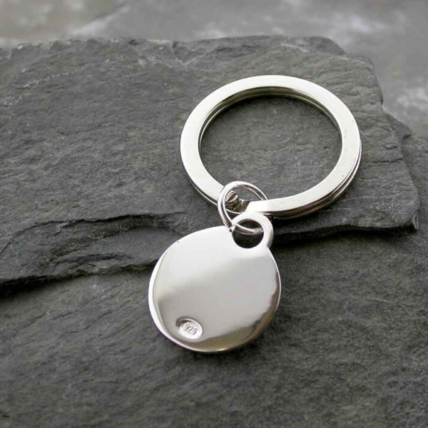 Personalised Silver Keyring Keychain in Sterling Silver. Personalised Keyring Engraved to Order with optional Gift Wrapping Available.