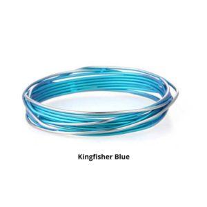 Kingfisher Blue Ladies Titanium Bangle Bracelet