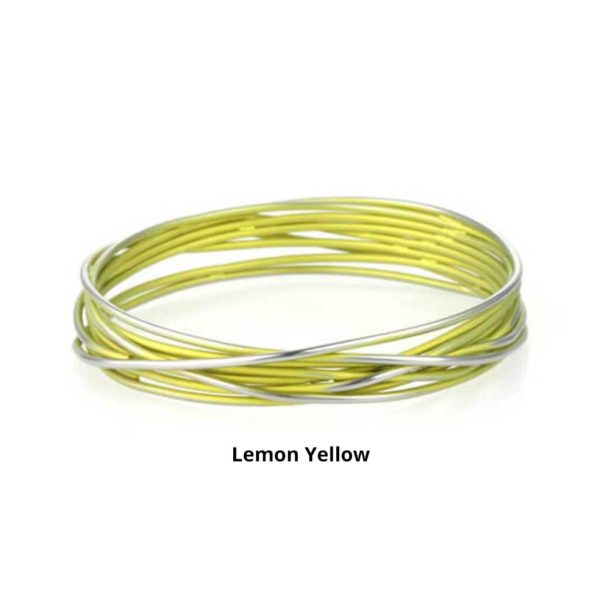 Lemon Yellow Ladies Titanium Bangle Bracelet