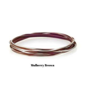 Mulberry Brown Ladies Titanium Bangle Bracelet