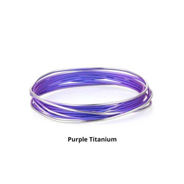 Purple Ladies Titanium Bangle Bracelet