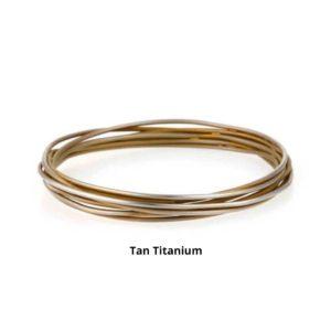 Tan Ladies Titanium Bangle Bracelet