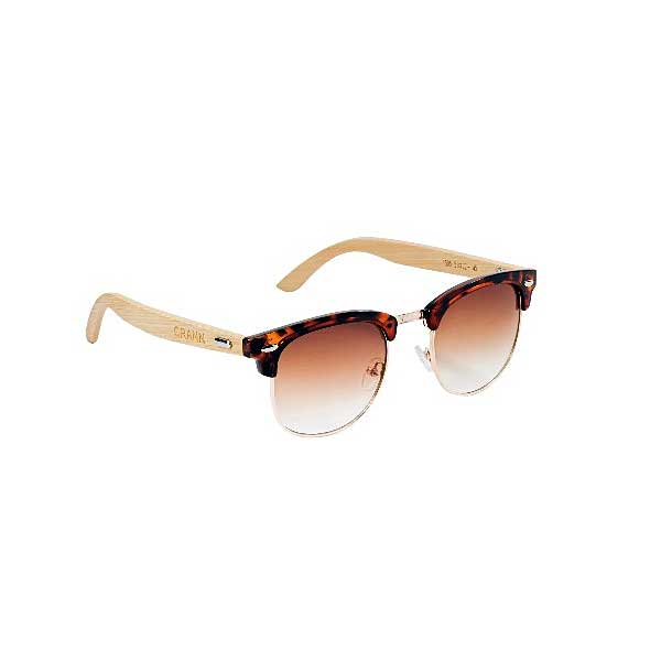 Blas Womens Sunglasses In Bamboo with Cork Sunglass Case & Microfiber Cloth. Irish Ladies Classic Design Eco Friendly Turtle Sunglasses. Shipped From Ireland.
