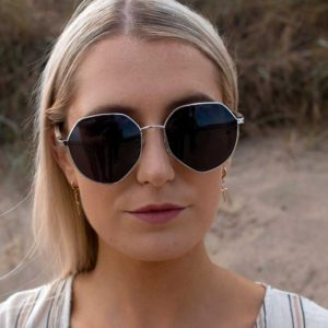 Curracloe Ladies Sunglasses made in Sustainable Recycled Materials. Eco Friendly Hand Crafted Irish Ladies Walnut Sunglasses Designed in & shipped from Ireland.