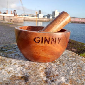 Personalised Mortar And Pestle with Free Engraving