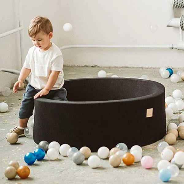 Round Foam Ball Pit For Children - Black