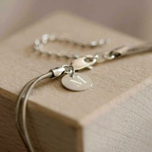 Knot Baby Bracelet & Pendant with Lobster Clasp in Gift Box With Free Personalised Engraving & Gift Box. Baby Christening & Baptism Bracelet In Silver.
