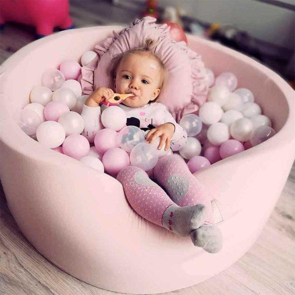 Round Foam Ball Pit For Children - Pink