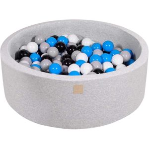 Round Foam Ball Pit For Children - Light Grey